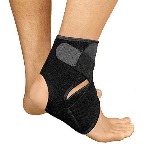 Bracoo Ankle Support, Compression Brace for Arthritis, Pain Relief, Sprains, Sports Injuries and Recovery, Breathable Neoprene Sleeve, FS10, S/M