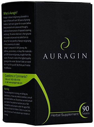 Auraginâ® Authentic Korean Red Ginseng â?? Made In Korea â?? 6 Year Roots â?? No Additives Or Other