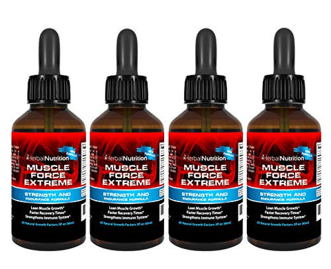 Muscle Force Extreme 4 Bottle Pack 400mg Proprietary Formula Our Strongest Strength and Endurance Spray Improves Muscle Strength and Recovery Times 2oz Spray Bottles Free Shipping