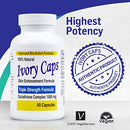 Image of Ivory Caps - Maximum Potency 1500 mg Glutathione Skin Whitening Pills Complex (4-Pack)