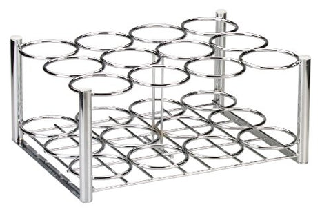 Drive Medical Deluxe Oxygen Cylinder Rack, Chrome, 12 D/E (18112)