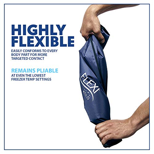 "Flexi Kold Gel Ice Pack (Standard Large: 10.5"" X 14.5"")   Reusable Ice Pack For Injuries (Cold Pack C"