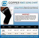 Image of Copper Compression Recovery Knee Sleeve - Guaranteed Highest Copper Content with Infused Fit. Best Copper Knee Brace for Men and Women. Wear to Support Stiff + Sore Muscles + Joints (Medium)