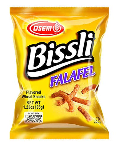 Osem Bissli Variety Pack Special! Falafel, Pizza, BBQ, 1.23 Ounce (4 x 3 Flavors, Total of 12 Bags)