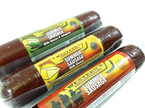 Original with Cheese Summer Sausage - Old Fashioned Beef Sausage - Made Fresh with Quality Ingredients and Packs an Awesome Flavor - IT'S A MUST TRY - 8 oz.