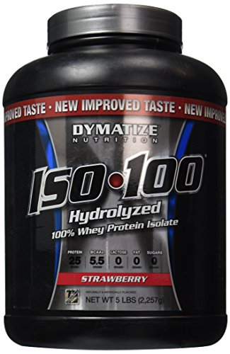Dymatize ISO100 Hydrolyzed 100% Whey Protein Isolate Strawberry -- 5 lbs