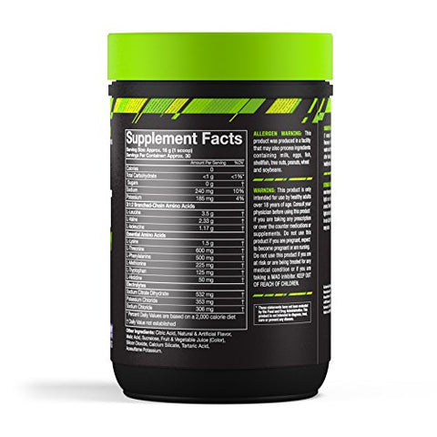 MusclePharm Combat BCAA + Recovery Powder, 10g of Branched-Chain Amino Acids and Essential Amino Acids, Blue Raspberry, 30 Servings
