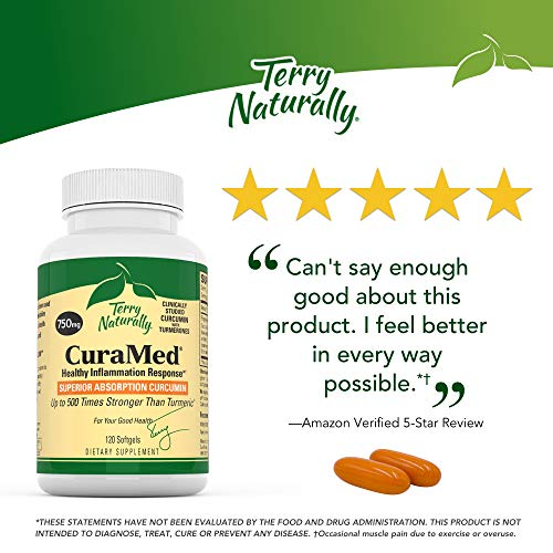 Terry Naturally Cura Med 750 Mg   120 Softgels   Superior Absorption Bcm 95 Curcumin Supplement With