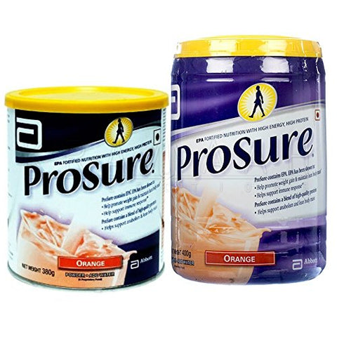 Abbott Prosure 400 gm Orange for Weight Gain Nutrition Cachexia Lean Mass Gain Anorexia