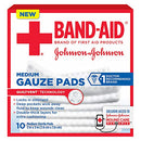 Image of Band-Aid Medium Gauze Pads, 10 Sterile Pads (Pack of 2)