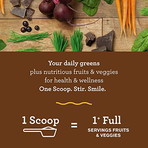 Amazing Grass Green Superfood: Organic Wheat Grass and 7 Super Greens Powder, 2 servings of Fruits & Veggies per scoop, Chocolate Flavor, 100 Servings