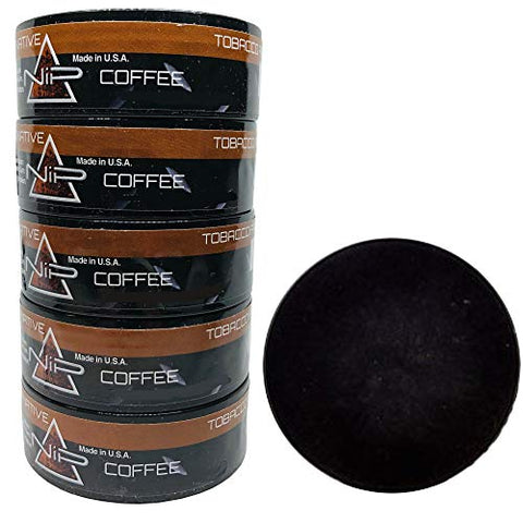 Nip Energy Dip Coffee 5 Cans with DC Crafts Nation Skin Can Cover - Black