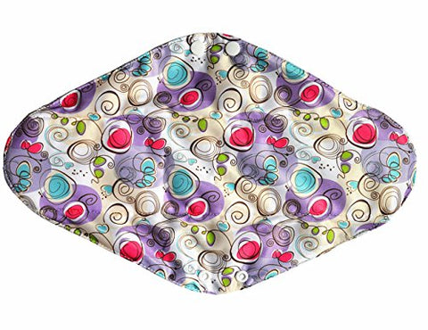 14 Inch Overnight Bamboo Mama Cloth/ Menstrual Pads/ Reusable Sanitary Pads (Swirls)