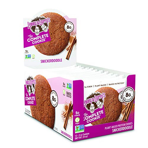 Lenny & Larry's The Complete Cookie, Snickerdoodle, 2 Ounce Cookies   12 Count, Soft Baked, Vegan An