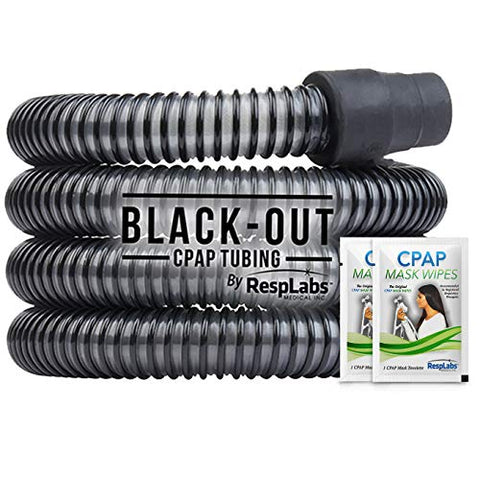 RespLabs CPAP Hose, Black-Out Tubing - The Original Universal 6 ft. Tube | Compatible with Respironics and ResMed Devices