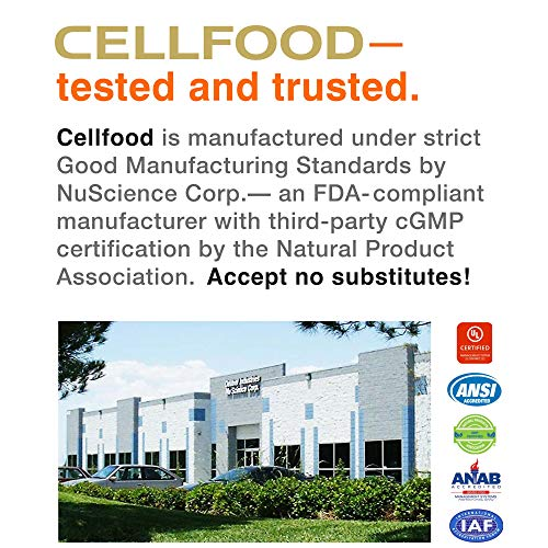 Cellfood Liquid Concentrate, 1 Oz.   Original Oxygenating Immune Support Formula   Seaweed Sourced M