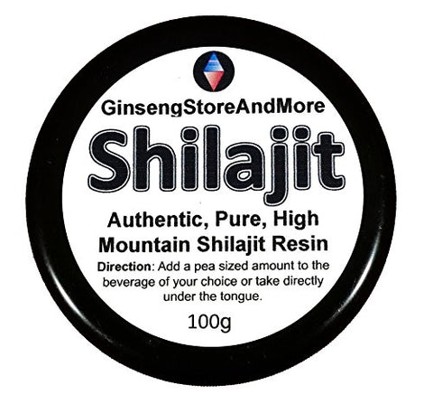 100g Shilajit, Authentic, Pure, High Mountain Shilajit Resin | Amazing Source of Fulvic Acid, Trace Minerals, Boost Energy, Great for Men and Women