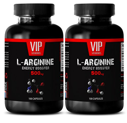 Increase Muscle Growth - L-ARGININE 500 Mg - L-arginine Capsules 500mg - 2 Bottles 200 Capsules