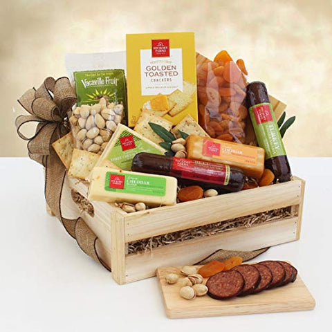 Scrumptious Holiday Meat and Cheese Christmas Gift Crate