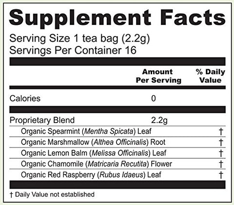 Earth Mama Organic Heartburn Tea Bags for Occasional Pregnancy Heartburn, 16-Count