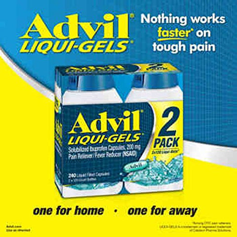 Advil Liqui-gels, 240 Capsules - COS