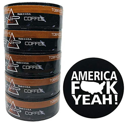 Nip Energy Dip Coffee 5 Cans with DC Crafts Nation Skin Can Cover - America