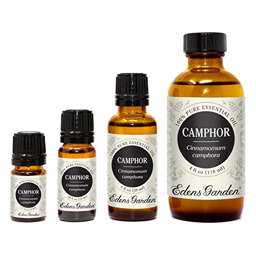 Edens Garden Camphor Essential Oil, 100% Pure Therapeutic Grade (Highest Quality Aromatherapy Oils- Cold Flu & Congestion), 10 ml