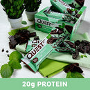 Image of Quest Nutrition Mint Chocolate Chunk Protein Bar, High Protein, Low Carb, Gluten Free, Keto Friendly, 12 Count