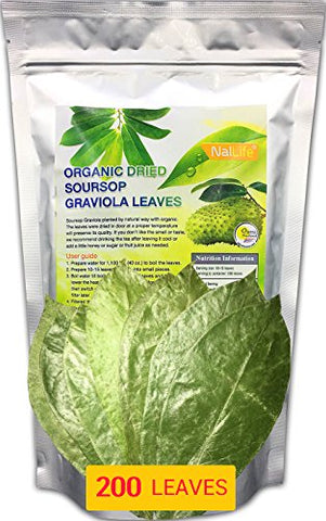 NalLife Organic Soursop Graviola Leaves for Tea 200 Leaves