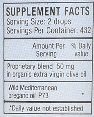 N. American Herb and Spice P73 Super Strength Oil of Oregano, Liquid, 1 fl oz