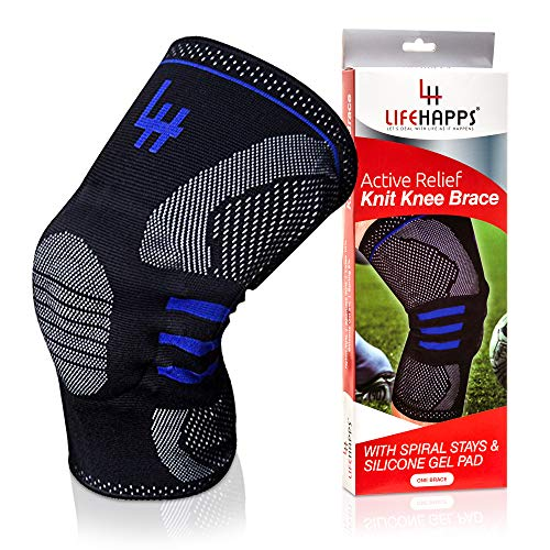 Active Relief Knee Brace By Lifehapps   Gel Knee Support And Compression Sleeve With Side Stabilizer