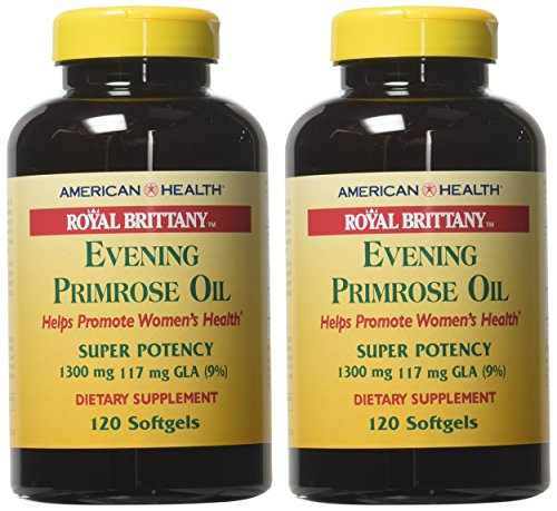 American Health Royal Brittany Evening Primrose Oil Softgels, 2 Pack   Promotes Women's Health   Nut