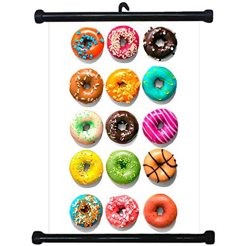 sp217092 Donuts Wall Scroll Poster For Bakery Shop Decor Display