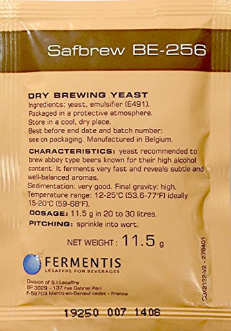 Safbrew BE-256 Abbey Yeast, 11.5g - 5-Pack