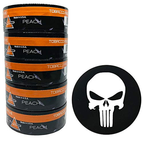 Nip Energy Dip Peach 5 Cans with DC Crafts Nation Skin Can Cover - Punisher