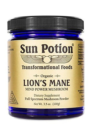 Sun Potion Lion's Mane (Organic) - Mind Power Mushroom (100g)