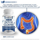 Image of Health Plus Prime Detox Colon Cleanser, Flush Toxins and Impurities, Aid in Weight Loss, Helps With Constipation, Safe and All Natural Pills for Men and Women, Cleanse Your Colon Naturally, USA MADE
