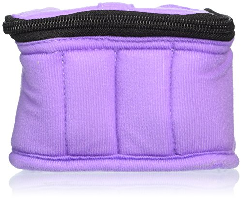 "16 Bottle Essential Oil Carrying Case For 5ml Bottles   Lavender With Aqua Green Interior   3"" High"