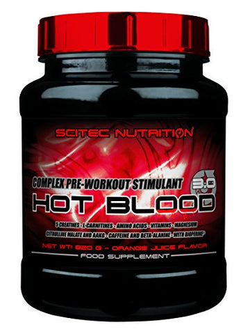 Scitec Nutrition Hot Blood 3.0-1.81 Pound, Orange Juice (Pre-Workout Supplement)