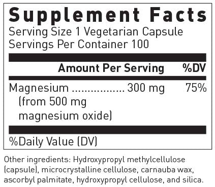 Douglas Laboratories - Magnesium Oxide - Supports Normal Heart Function and Bone Formation* - 100 Capsules