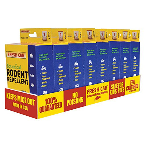 AP Products 020-128 Fresh Cab Rodent Repellent, Display Box of 8