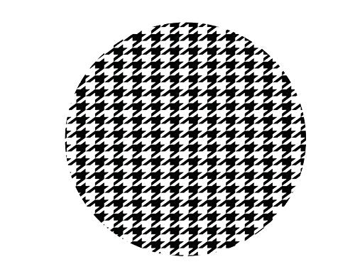 Black Houndstooth Edible Icing Image 7.5 inch round