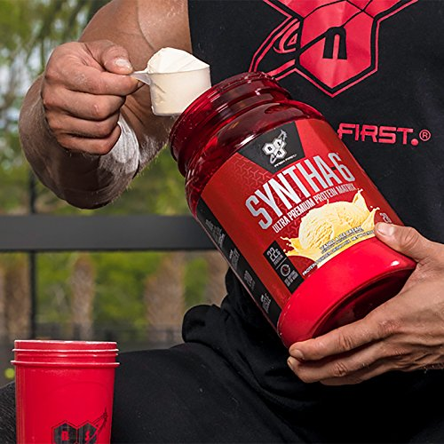 BSN SYNTHA-6 Whey Protein Powder, Micellar Casein, Milk Protein Isolate Powder, Chocolate Milkshake, 97 Servings (Package May Vary)