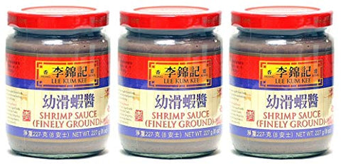 Lee Kum Kee Sauce - Finely Ground 8 oz (Shrimp Sauce, 3 Packs)