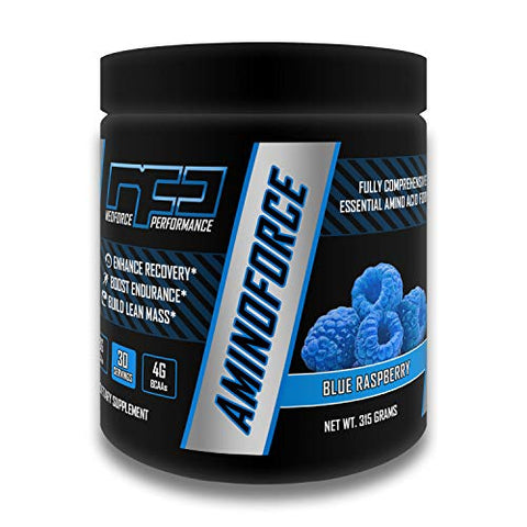 AMINOFORCE Essential Amino Acids - Blue Raspberry, 30 Servings