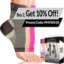 Image of Physix Gear Plantar Fasciitis Socks with Arch Support for Men & Women - Best 24/7 Compression Foot Sleeve for Heel Spurs, Ankle, PF & Swelling - Holds Shape & Better Than a Night Splint - Black LXL