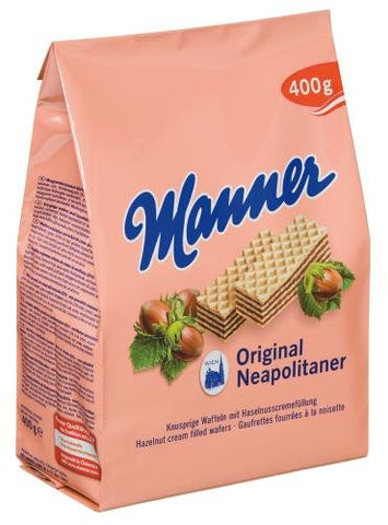 Manner Original Neopolitaner Hazelnut Wafers - Made in Austria (Pack of 2)