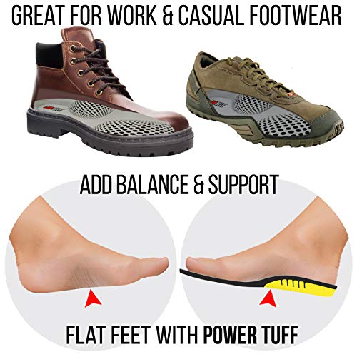 JobSite Power Tuff Anti-Fatigue Support Work Orthotic Insoles - Jumbo