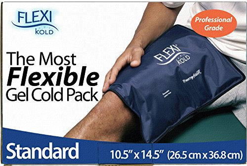 "FlexiKold Gel Ice Pack (Standard Large: 10.5"" x 14.5"") - Reusable Cold Therapy Pack (for Pain and Injuries of Knee, Shoulder, Foot, Back, Ankle, Neck, Hip, Wrist) - 6300-COLD"