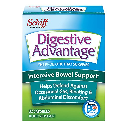 Intensive Bowel Support Probiotic Supplementâ   Digestive Advantage 32 Capsules,â Defends Against Ga